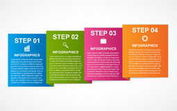 Colorful squares infographics for your business presentations. Stock Image