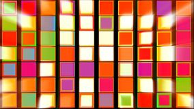 Colorful Squares with Light Rays Abstract Background stock video