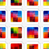 Colorful squares and net seamless pattern Royalty Free Stock Photography