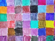 Colorful squares. Painted on a paper royalty free illustration