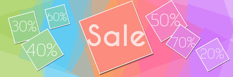 Colorful Squares Sale Banner Royalty Free Stock Photos