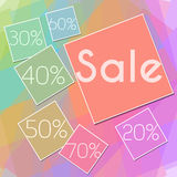 Colorful Squares Sale Square Stock Photography