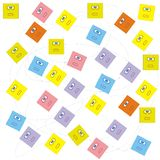 Colorful squares texture Stock Photo