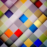 Colorful Squares Vector Diagonal Background. Colorful Squares Vector Diagonal Abstract Background Royalty Free Stock Images