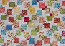 Colorful Squares with White Background. Quilt stock images