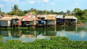 Colorful squatter shacks and houses in Saigon Stock Photo