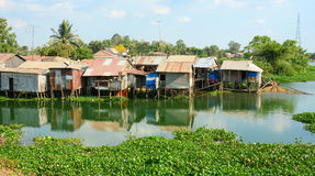 Colorful squatter shacks and houses in Saigon Stock Photos
