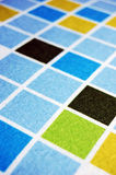 Colorful squre. Close-up of colorful squre cloth for background stock photography