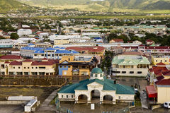 Colorful St Kitts Town Stock Image