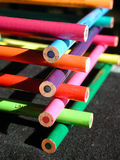 Colorful Stack. Of pencil crayons arranged in a log cabin fashion Royalty Free Stock Image
