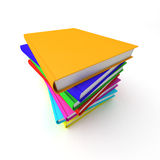 Colorful stack of books Stock Photo