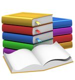 Colorful stack of books Royalty Free Stock Images