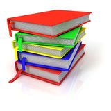 Colorful stack of books, with bookmarks Stock Image
