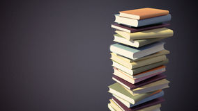 Colorful Stack of Books with Clipping Path Royalty Free Stock Images