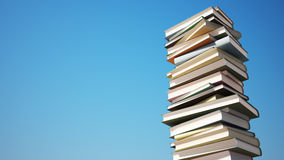 Colorful Stack of Books with Clipping Path Royalty Free Stock Image