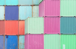 Colorful stack of container shipping Royalty Free Stock Image