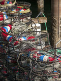 Colorful Stack of Crab Traps Stock Photos