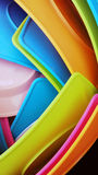 Colorful stack dishes Royalty Free Stock Image
