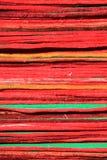 Colorful stack of floor/door mat Stock Image