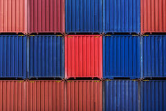 Colorful stack pattern of cargo shipping containers Stock Photo