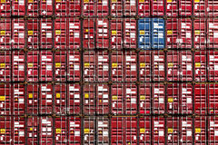 Colorful stack pattern of cargo shipping containers Royalty Free Stock Photos