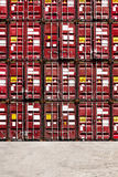 Colorful stack pattern of cargo shipping containers Stock Photos