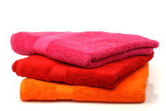Colorful stacked bathroom towels Royalty Free Stock Photo
