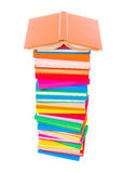 Colorful stacked books Stock Photos