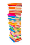 Colorful stacked books Stock Photography