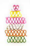 Colorful Stacked Holiday Ribbon Candy Royalty Free Stock Photos