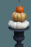 Colorful Stacked Pumpkins Royalty Free Stock Image