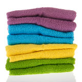 Colorful stacked towels Royalty Free Stock Photography