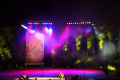 Colorful stage. Colorful empty summer outdoor stage royalty free stock image