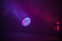 Colorful stage LED spot light Stock Photo