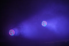 Colorful stage LED spot lights Royalty Free Stock Photo