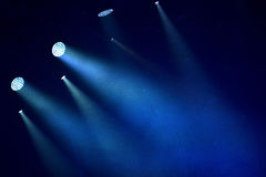 Colorful stage lights. At a concert Royalty Free Stock Photos