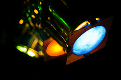 Colorful Stage Lights Royalty Free Stock Photos
