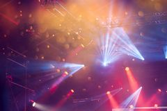 Spot Stage lights. Colorful stage lights at electric concert stock photo