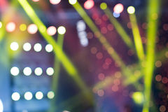 Colorful Stage Lights, light show at the Concert, Blurred lights. Colorful Stage Lights Stock Photos
