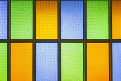 Colorful stain glass windows. Royalty Free Stock Photo