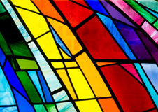 Colorful Stain Glass. Wonderful colors  in this stain glasswork Royalty Free Stock Image