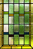 Colorful stained glass. Close up of colorful stained glass Stock Photo