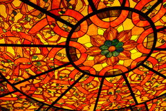 Colorful stained glass ceiling Royalty Free Stock Images