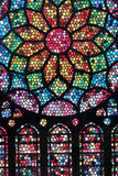 Colorful stained glass texture. Stained glass colorful abstract pattern background Stock Image