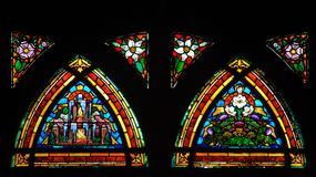 Colorful Stained Glass window Royalty Free Stock Images