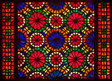 Colorful stained glass window Royalty Free Stock Photography