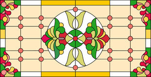Colorful stained glass window in classic style style, Tiffany techniqu Royalty Free Stock Photo