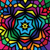 Colorful stained glass window design Royalty Free Stock Images