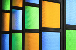 Colorful stained glass windows Royalty Free Stock Photography