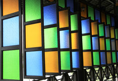 Colorful stained glass windows Royalty Free Stock Images